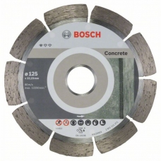 Диск алмазный по бетону Bosch 125х22,2мм