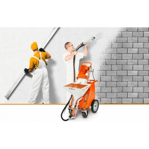 Механизированная  шпаклевка и покраска стен и потолков